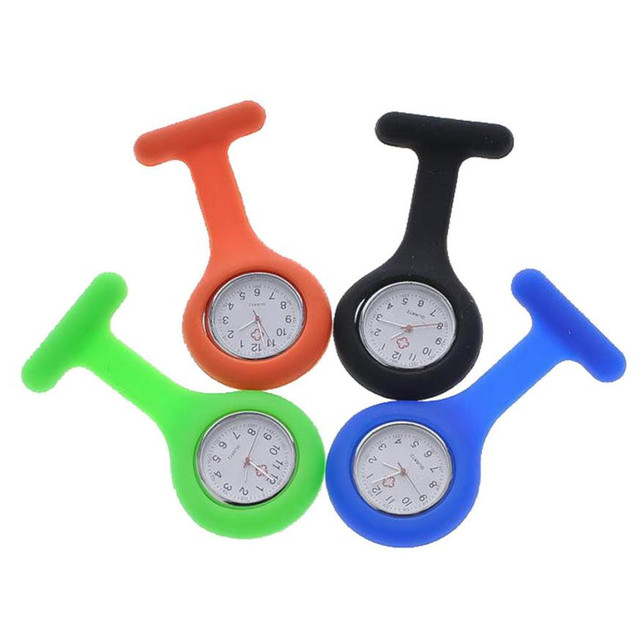 Moment # L05 Hot Sales 2018 Fashion Cuty New Silicone Nurse Watch Brooch Tunic Fob Watch With Free Battery Doctor Medical Drop