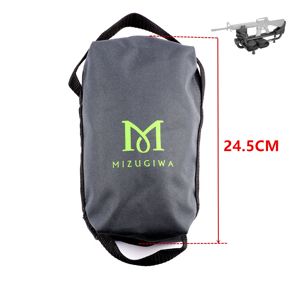 1pc Mizugiwa Unfilled Shooting Shot Rest Carrier Bags Gun Rest Weight Bag Lead Sled Shot Carrier Bag