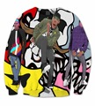 2 Styles Real USA Size Chris Brown 3D Sublimation print Crewneck Sweatshirts fleece streetwear plus size