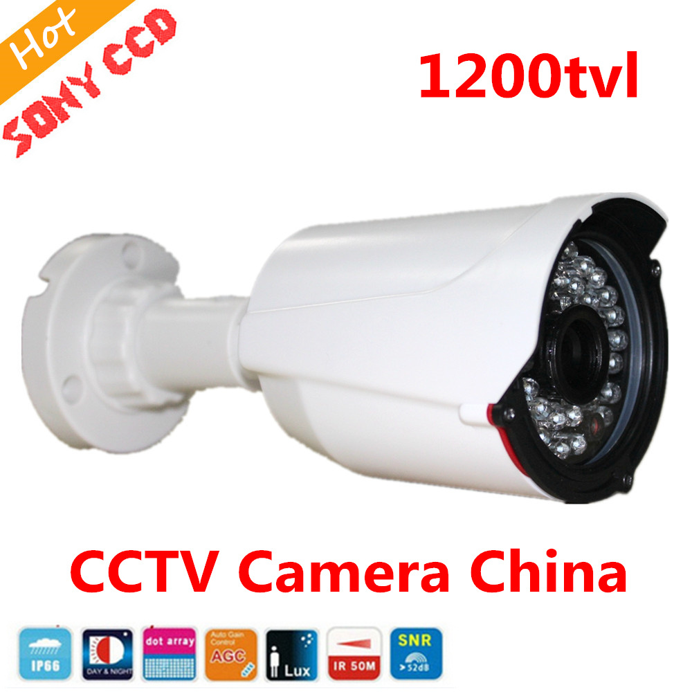 FreeShip New Video Surveillance Security CCTV IR Bullet Camera 1200 tvl CCTV Camera ir-cut indoor/outdoor Sony CCD mini bullet cvbs ccd camera 700tvl with headset mount for mobile surveillance security video 5v