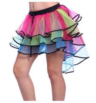Adult Tulle Skirt Rainbow Tail Tutu Cake Bitter Ballet For Women Gauze Custume