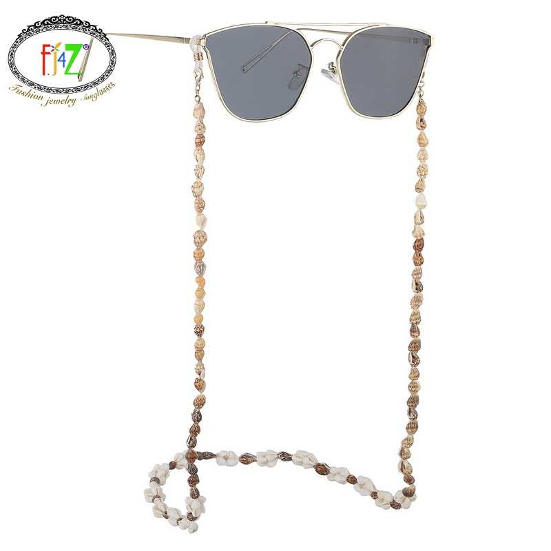 F.J4Z New Hot Seashell Glasses Chain Summer Beach Nature Shell Sunglasses Straps Cowrie Eyewear Holder Sun Glasses Accessories