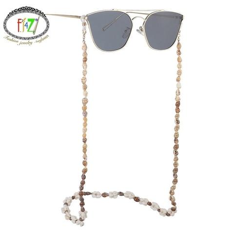 F.J4Z New Hot Seashell Glasses Chain Summer Beach Nature Shell Sunglasses Straps Cowrie Eyewear Holder Sun Glasses Accessories Pakistan