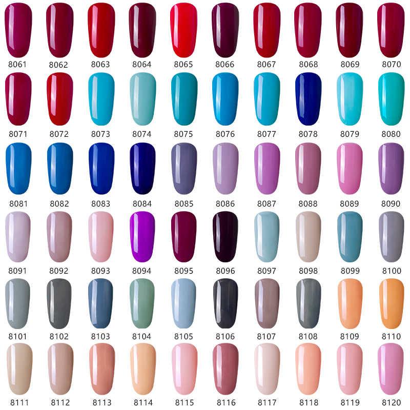 Modelones 2 Pcs/Banyak Glitter UV Nail Gel Polish Set Super Mengkilap Payet LED Kuku Pernis Lacquer Set Semi Permanen Platinum gel