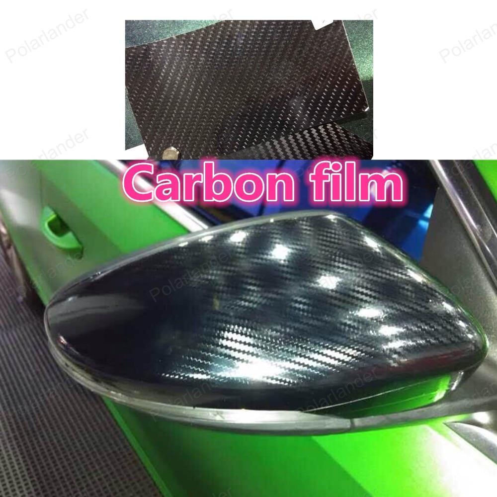Bricolage 152*20 cm voiture autocollant Film changement de couleur Auto extérieur en Fiber de carbone accessoires intérieur Film voiture style
