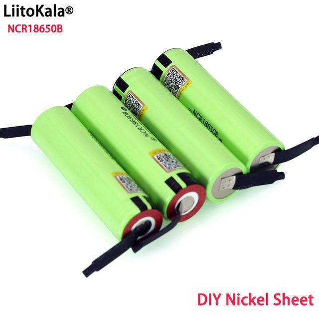 LiitokalaオリジナルNCR18650B 3.7 v 3400 18650リチウム二次バッテリー溶接ニッケルシート電池卸売