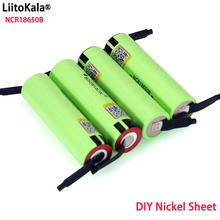 Liitokala batería recargable de litio NCR18650B, 3,7 v, 3400 mah, hoja de níquel para soldadura, venta al por mayor