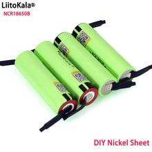 Liitokala originale NCR18650B 3.7 v 3400 mah 18650 batteria ricaricabile al litio saldatura batterie foglio di nichel allingrosso