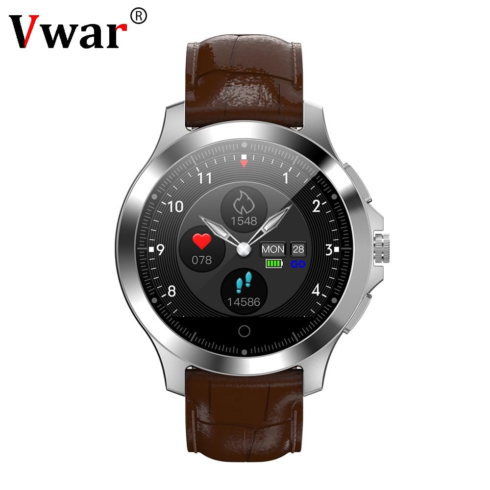 2019 Men Business Smart Watch PPG ECG N66 Smartwatch Blood Pressure Heart Rate Monitor IP67 Waterproof