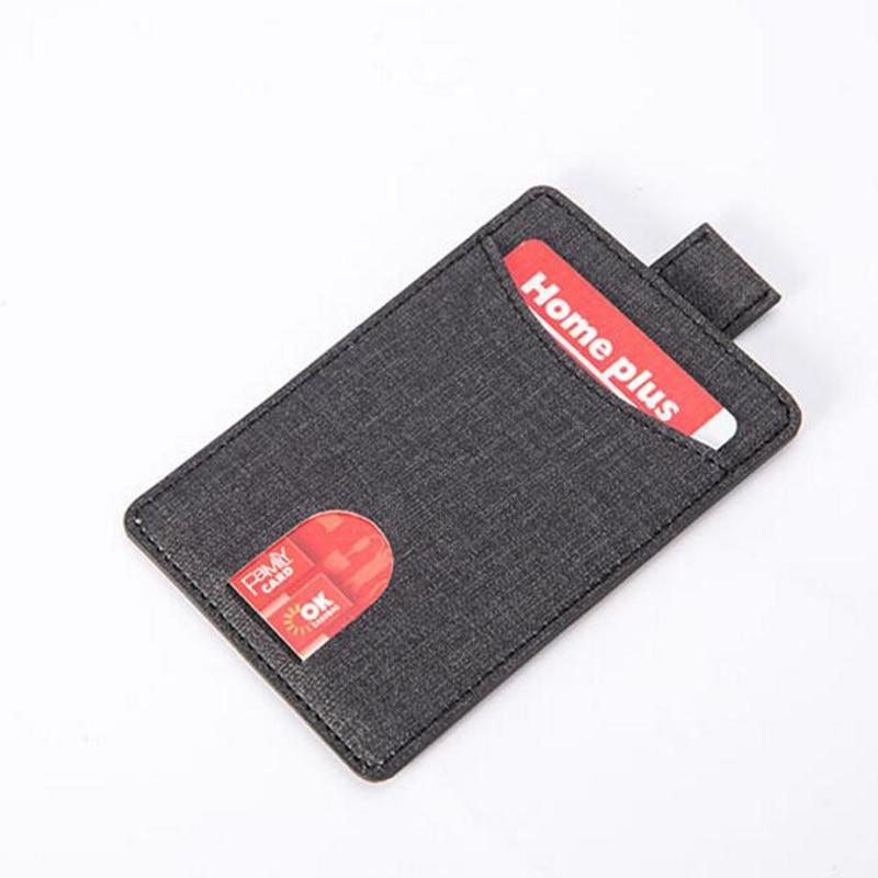 씬 카드 홀더 신용 카드 용 슬림 남성 지갑 미니 당김 탭 지갑 작은 아이디 홀더 사람 Porte Carte Carnet Cardholder