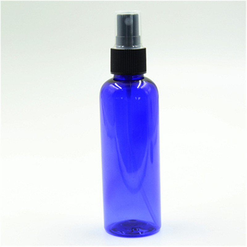 100ps/lot 150ml white blue clear green amber plastic pet bottle with nice mist sprayer by fast shipping reuse bottle refillable