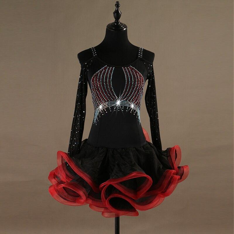 Robe de danse latine robe de salsa latine femmes danse porter robe de compétition latine costumes de danse samba robe de frange latine tango lq054