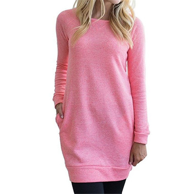 Women Hoodies Casual Long Sleeve Round Neck Hoodies Sweatshirt European Style Apparel Pullover Sudaderas Mujer