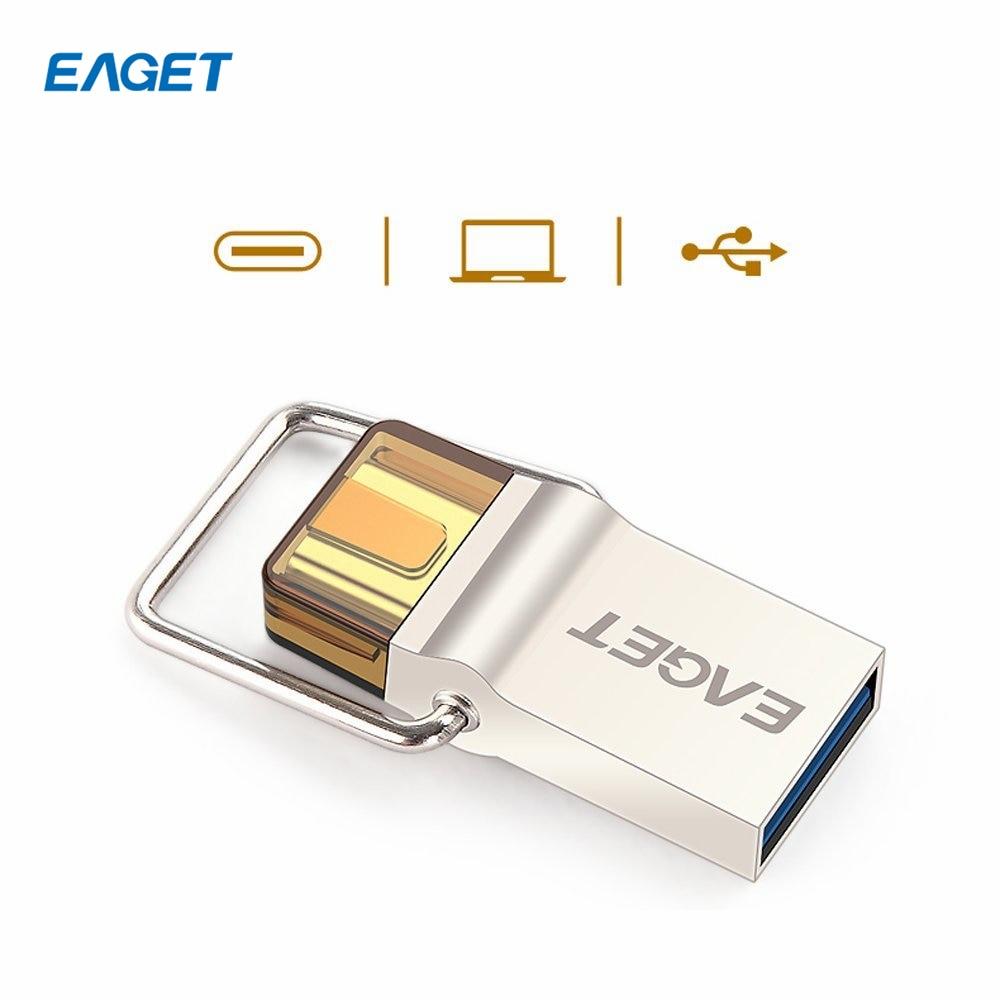 64GB OTG USB-C Type-C EAGET CU10 USB 3.0 Pen Drive Flash Drive Memory Stick