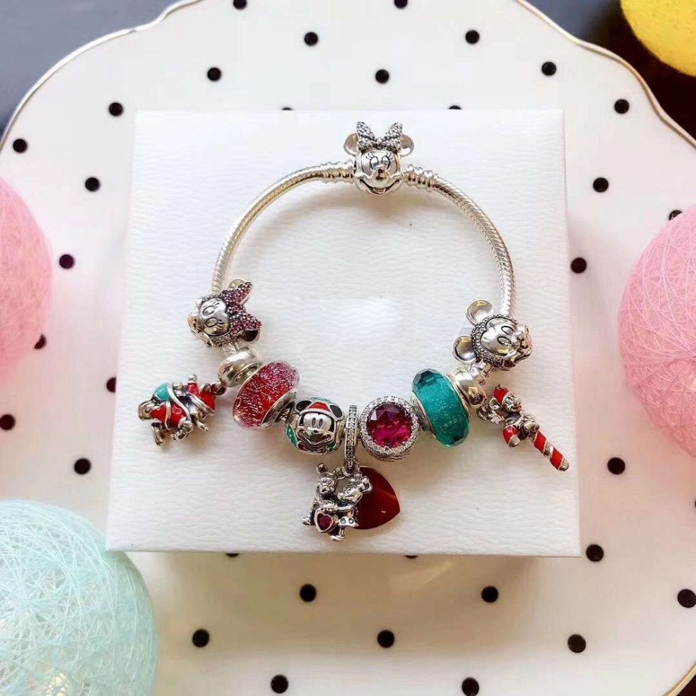 100% Pure Silver Original Copy 1:1 High Quality New Mickey Bracelet Series Factory Direct Batch Free Shipping100% Pure Silver Original Copy 1:1 High Quality New Mickey Bracelet Series Factory Direct Batch Free Shipping