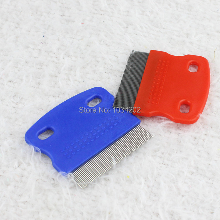 200pcs/lot Pet Lice Flea Comb Pet Cleaning Supplies Dog Cat Fine-toothed Combs Single Si ...