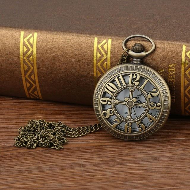 2019 Top Selling Personalized Pattern Steampunk Vintage Quartz Roman Numerals Saat Montre Relogio Watches Men Reloj Pocket Watch