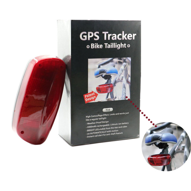 Special designed Hidden GPS for city bike, GPS Tracker for Bicycle T16 gsm security bike alarm with free app track vjoycar t18 tail lamp easy locator bike gps tracker bicycle alarm system waterproof 2200mah battery free tracking software
