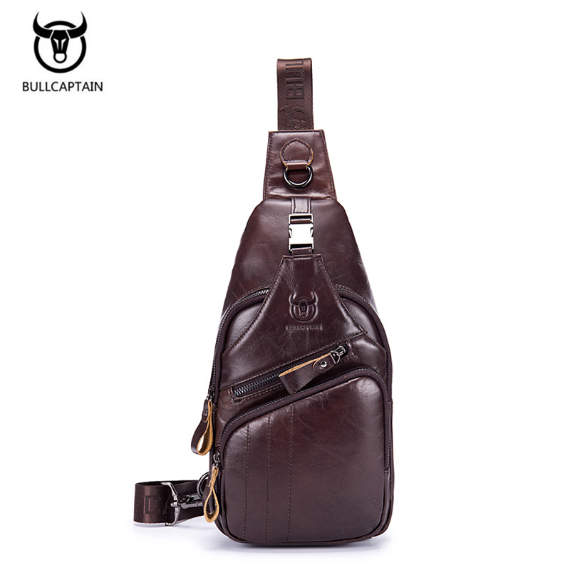 New High Quality Vintage Casual Genuine Cowhide Men Chest Bag Small Messenger Bags For Man Shoulder Bags Large Capacity Retro стоимость