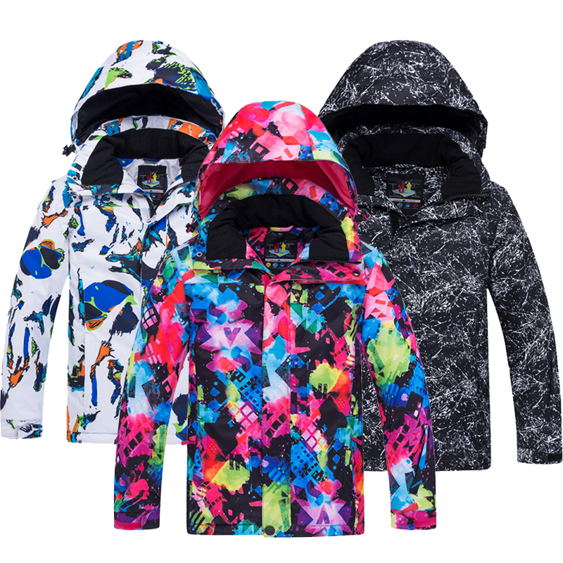 Girls Boys Ski Jacket 2020 New Hot Waterproof Thermal Winter Clothing Children's Ski Jacket -30 Degree Snowboard Ski Jackets