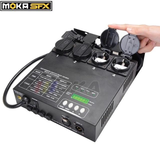 Compatto Dimmer e Interruttore Pack Auto/DMX 512 Modalità di Oscuramento Della Luce DMX Dimmer Pack Controller Stand alone di Musica controllo A001 per A512