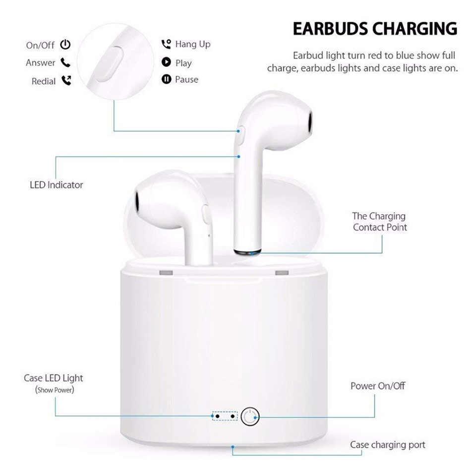 I7 i7s tws наушники-вкладыши Bluetooth наушники Binau беспроводные наушники гарнитура с микрофоном для всех смартфонов
