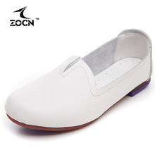 ZOCNบัลเล่ต์แฟลตผู้หญิงโลฟเฟอร์หนังแท้รองเท้า2016ขายร้อนZ Apatos Mujerสบายสบายสุภาพสตรีรองเท้ารองเท้าหนังนิ่ม