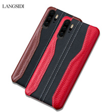 Genuine Leather Phone case For Huawei p30 p20 Pro Covers for mate 20 pro coque Stitch Cowhide Cases Honor 8X