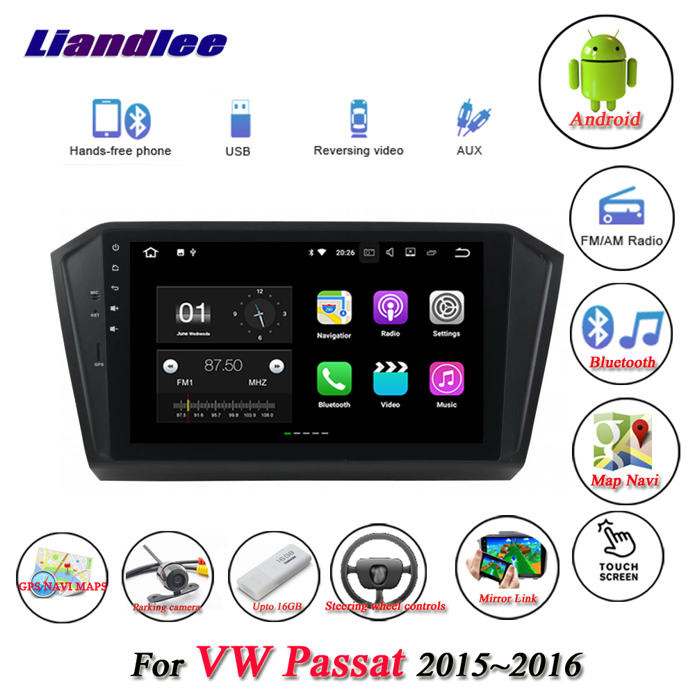 Liandlee Car Android System For Volkswagen VW Passat 2015~2016 Radio USB TV FM GPS Wifi Nav Navi Navigation HD Stereo Multimedia