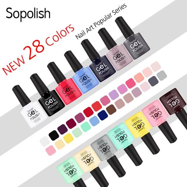 Sopolish Gel Polish Hybrid Nail Art Lak Primer Top Coat Vernis Semi Permanent UV Colors Accessoires Acrylic Builder Gel Polish