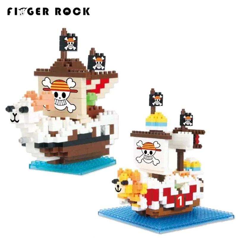 ONE PIECE Pirate Ship Going Merry and Thousand Sunny chariot QCF building blocks model toys Present gift for boy new lepin 22001 pirate ship imperial warships model building kits block briks toys gift 1717pcs