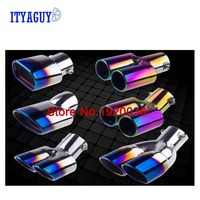 Car Styling Stainless Steel Pipers Trim Modified Car Tail Throat Liner For Toyota COROLLA 2014 Car