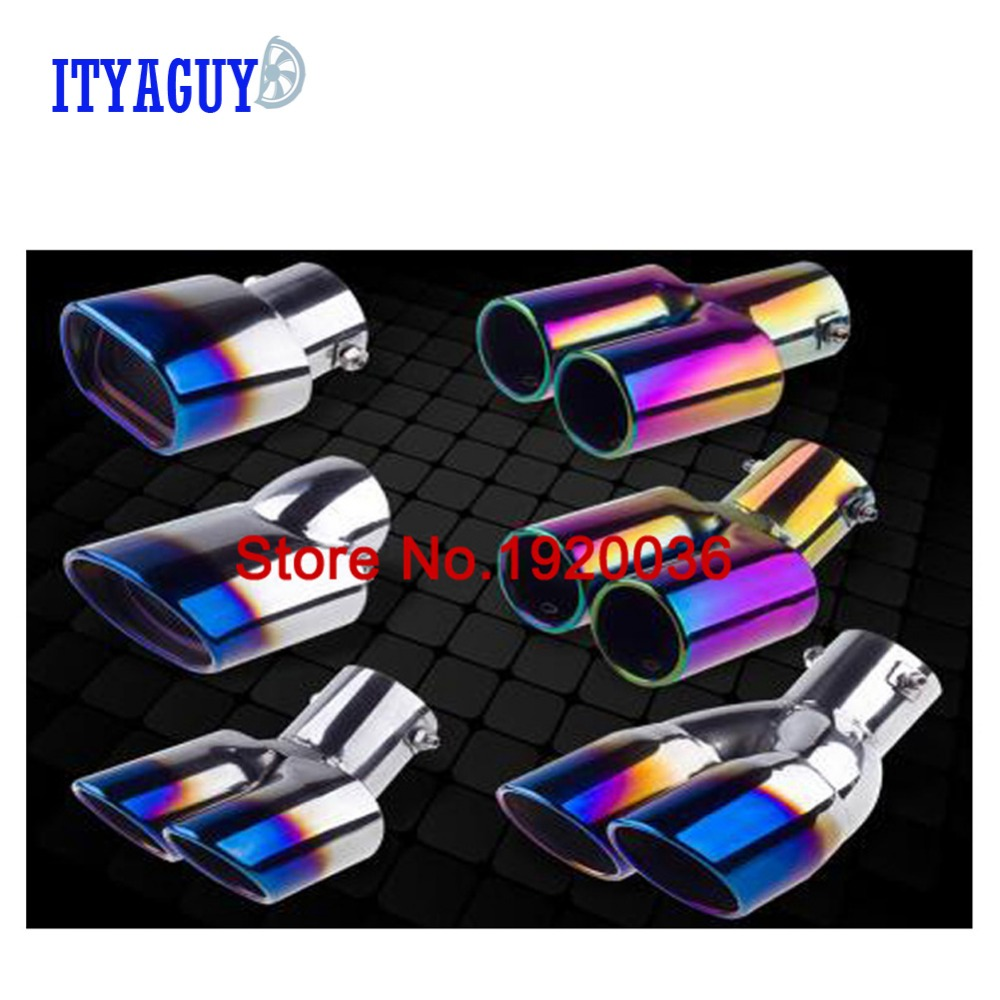 Stainless Steel Pipers Trim Modified Throat Liner Car Exhaust Pipe Tail Pipes for Toyota COROLLA 2014