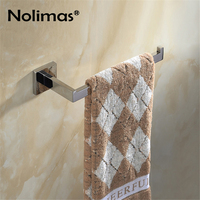 SUS 304 Stainless Steel Single Towel Bar Towel Rack Holder Mirror Polished Bathroom Wall Mounted Single