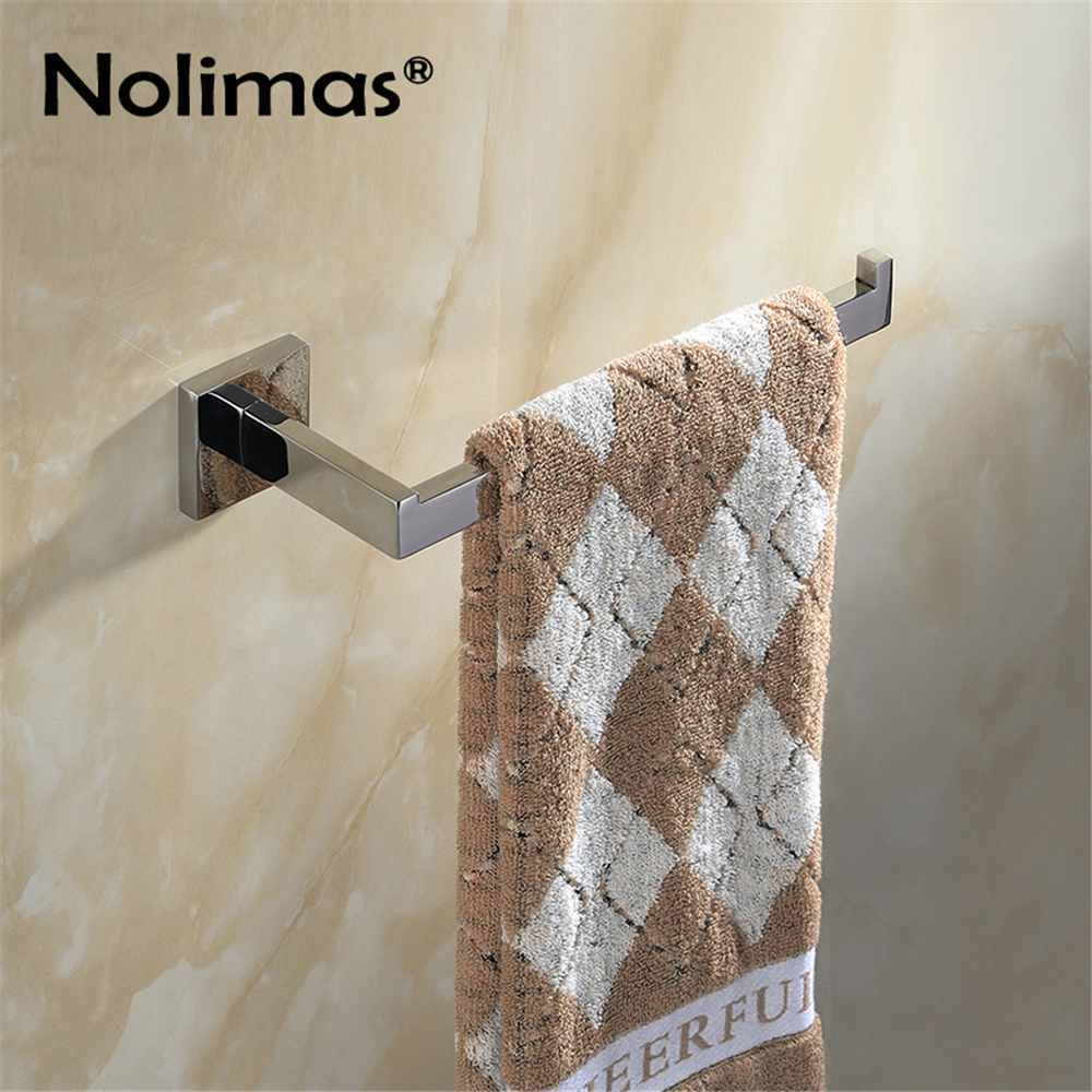 SUS 304 Stainless Steel Single Towel Bar Towel Rack Holder Mirror Polished Bathroom Wall Mounted Single Fashoin Towel Ring sus304 stainless steel mirror 60cm single towel bar towel rail holder stainless steel construction sm020 water sa