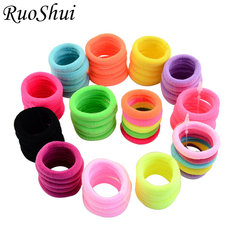 20pcs/lot High Quality Ribbon Elastic Hair Bands Cute Hair Accessories for Girls Kids Candy Color Rubber Band Hair Tie   Headwear