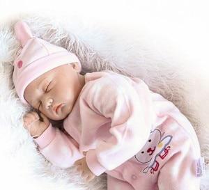 Image 4 - NPK 55cm Soft Body Silicone Reborn Baby Dolls Toy For Sale Best Gift For Girl Kid Girls Newborn NPK Babies