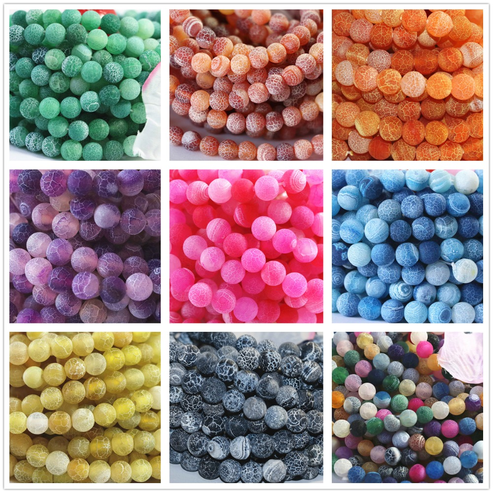 Newly multicolor natural weathered agate stone 12mm round loose beads diy Jewellery 15″ A01-4
