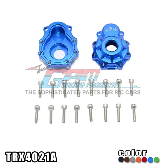 TRAXXAS TRX-4 TRX4 82056-4 Aluminium alloy front/rear suitable cup outer cover+stainless steel screw-set TRX4021A free shipping