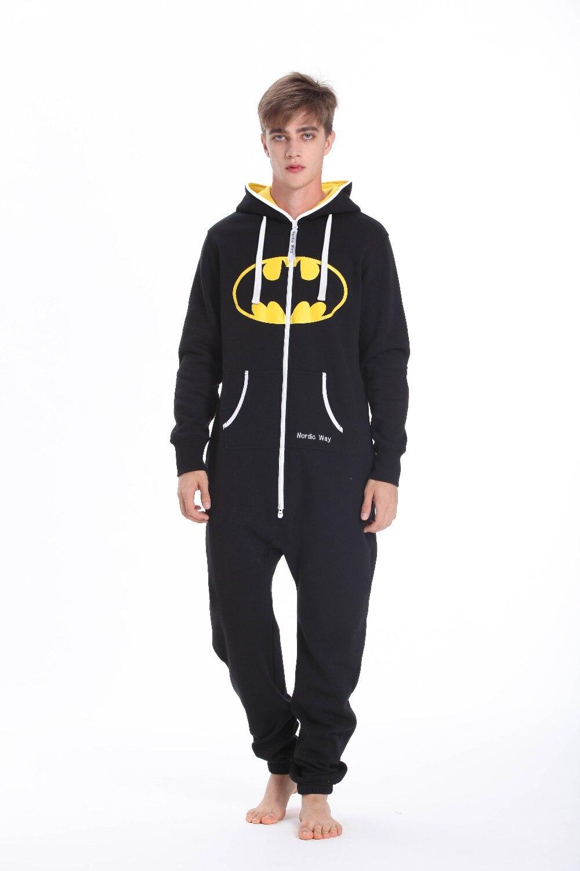 Batman One Piece Jumpsuit Adult Unisex Romper Hoody Fleece Nordic Way Playsuit Onsies