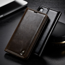 Caseme Роскошный кожаный чехол для iphone 8 7 6 6 S Plus слот магнитных карт бумажник чехол флип телефон Чехол для iPhone 5 5S SE Капа