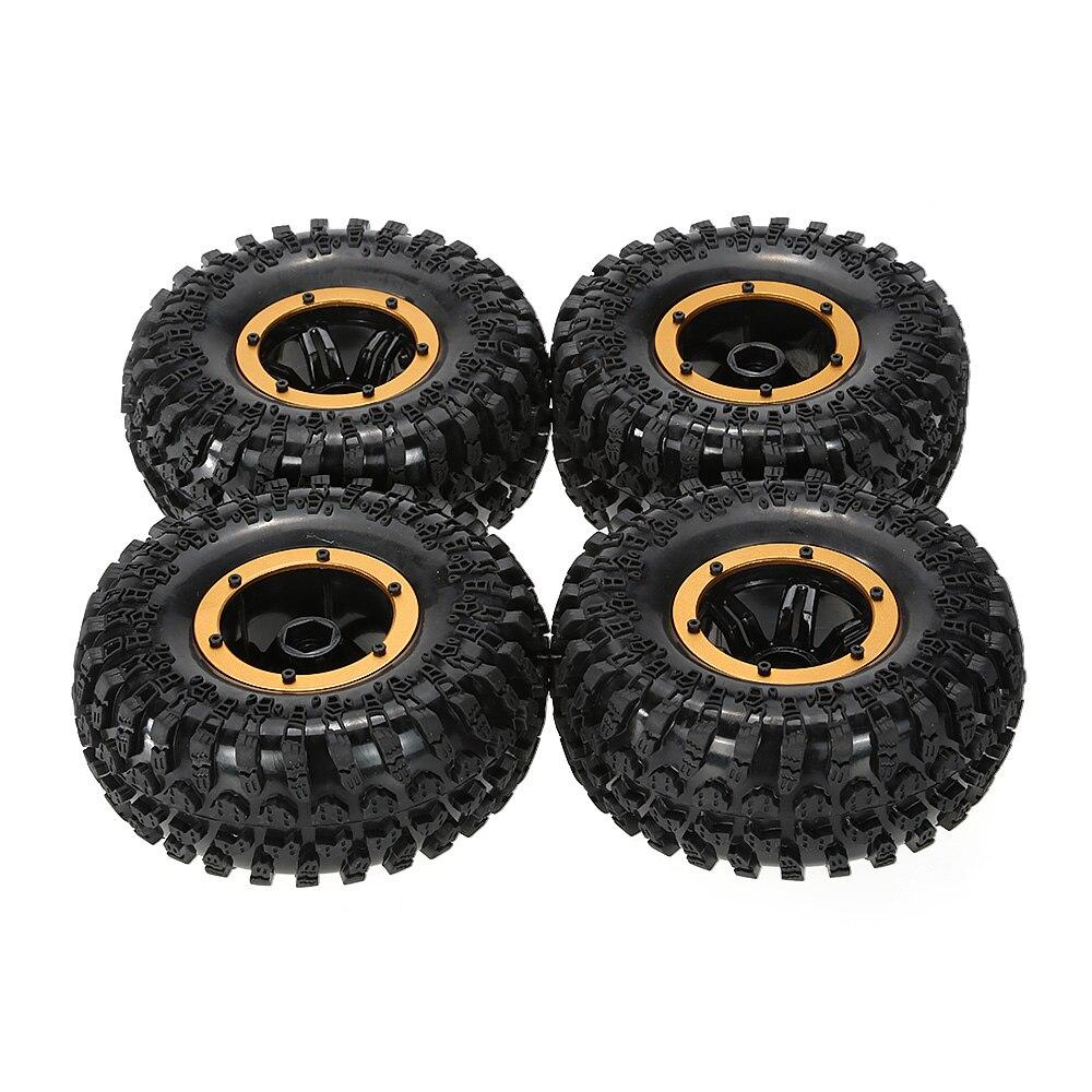 Original AX-3021BU Air Pneumatic Beadlock Wheel Rim and Tire for for 1/10 RC4WD D90 Axial SCX10 Crawler Truck 4pcs aluminum 1 9 beadlock wheel rims 1060 for 1 10 rc truck rock crawler axial scx10 d90 racing