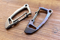 1PC Titanium Alloy Keychain Key Ring Fast Hang Buckle Crowbar Wrench Opener Pocket EDC Defense Multi Combination Tool