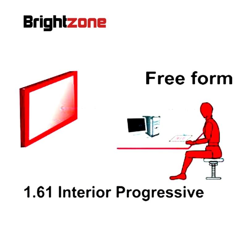 1 61 Interior Free Form Progressive multi focus non line CR 39 resin prescription lenses one