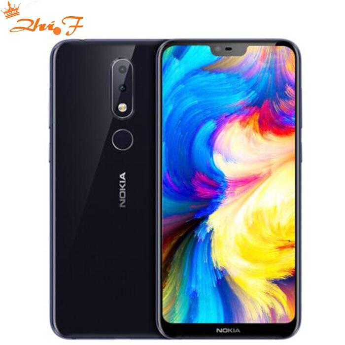 Nouveau Nokia X6 2018 64g ROM 6g RAM 3060 mah 16.0MP 3 Caméra Double Sim Android LTE D'empreintes Digitales 5.8 pouce Octa Core Smart Mobile Téléphone