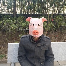 1pcs Pig Head Scary Masks Novelty Halloween Mask  Caveira Cosplay Costume Latex Festival Supplies
