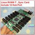Estúdio linsn RV908, cartão receptor RV908M32, 32 S, 1024*256, rv801, cheio de cor rgb sistema de controle/linsn display led recebe o cartão
