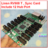 Linsn Studio RV908 Reciever Card 908 1024 256 Pixel Rv801 Sync Full Color Rgb Control System