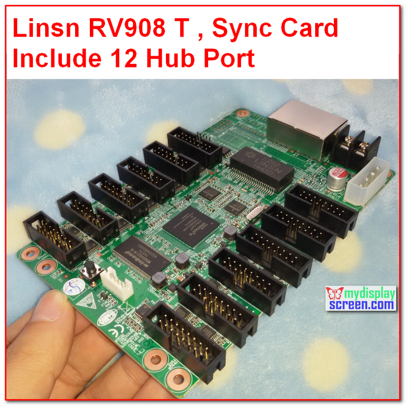 Linsn Studio RV908,receiver Card RV908M32, 32S,1024 * 256,rv801,full Color Rgb Control System /linsn Led Display Receiving Card