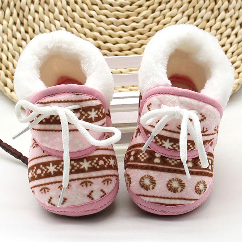 Leuke schoenen warme zachte baby retro afdrukken schoenen katoen - Baby schoentjes - Foto 3